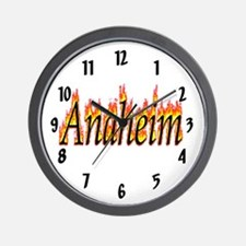 Anaheim Flame Wall Clock