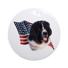 Newfie Flag Ornament (Round)
