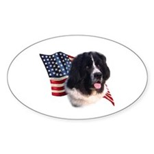 Newfie Flag Oval Decal
