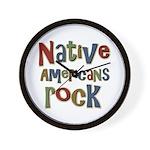 Native Americans Rock Pride Wall Clock