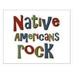 Native Americans Rock Pride Small Poster