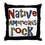 Native Americans Rock Pride Throw Pillow