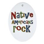 Native Americans Rock Pride Oval Ornament