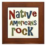 Native Americans Rock Pride Framed Tile