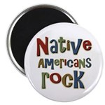"Native Americans Rock Pride 2.25"" Magnet (10 pack)"