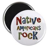 "Native Americans Rock Pride 2.25"" Magnet (100 pack"
