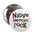 Native Americans Rock Pride Button