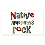 Native Americans Rock Pride Rectangle Sticker