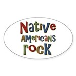 Native Americans Rock Pride Oval Sticker