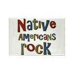 Native Americans Rock Pride Rectangle Magnet