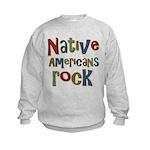 Native Americans Rock Pride Kids Sweatshirt