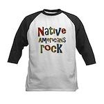 Native Americans Rock Pride Kids Baseball Jersey