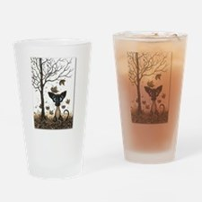 Fall Feline Drinking Glass