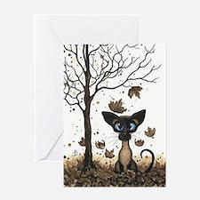 Fall Feline Greeting Cards