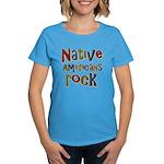 Native Americans Rock Pride Women's Dark T-Shirt