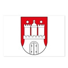 Hamburg Coat of Arms (small) Postcards (Package of