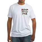 Native Americans Rock Pride Fitted T-Shirt