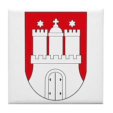 Hamburg Coat of Arms (small) Tile Coaster