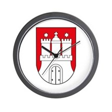 Hamburg Coat of Arms (small) Wall Clock