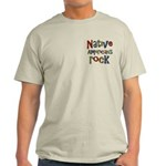 Native Americans Rock Pride Light T-Shirt