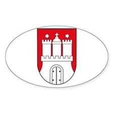 Hamburg Coat of Arms (small) Oval Decal
