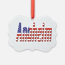 Patriotic Anaheim Ornament