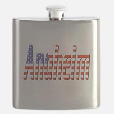 Patriotic Anaheim Flask
