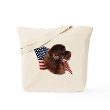 Newfie Flag Tote Bag