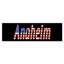 Patriotic Anaheim Bumper Bumper Sticker