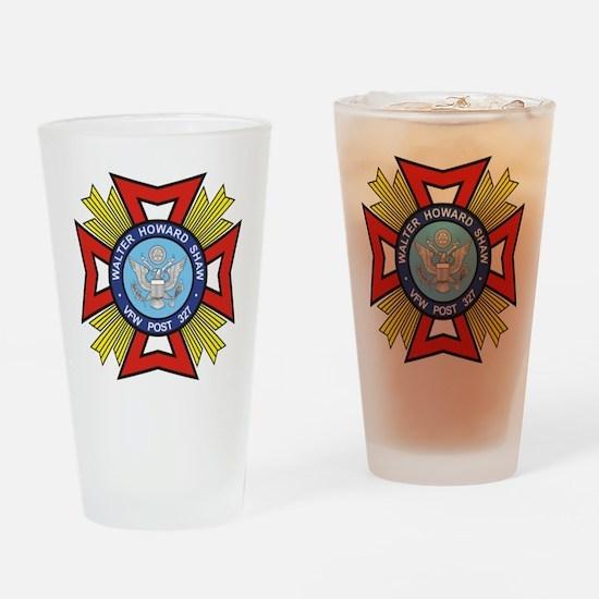 VFW Post 327 logo Drinking Glass