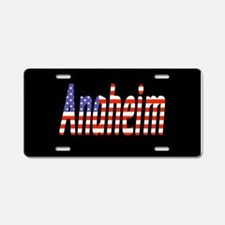 Patriotic Anaheim Aluminum License Plate