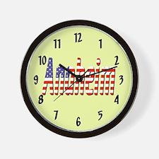 Patriotic Anaheim Wall Clock