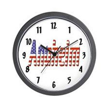 Patriotic Anaheim Wall Clock