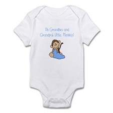 Grandma, Grandpa Monkey(blue) Infant Bodysuit