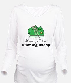 Funny Run Long Sleeve Maternity T-Shirt