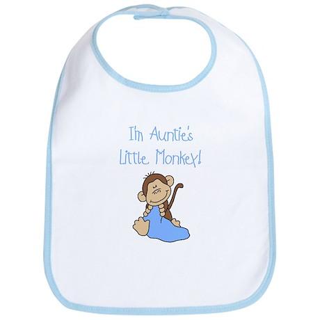 Auntie's Monkey(blue) Bib