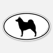 Norwegian Elkhound Oval Decal