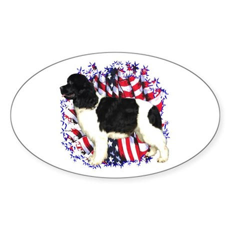 Newfie Patriot Oval Sticker