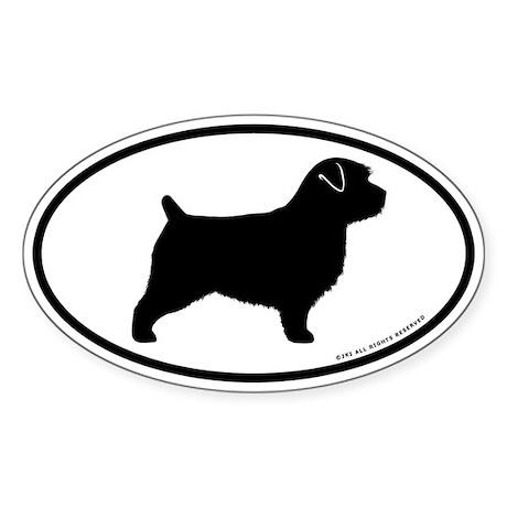 Norfolk Terrier Oval Sticker