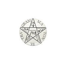 Black Pentagram of Solomon Mini Button