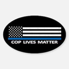 Cop Lives Matter Sticker (Oval)