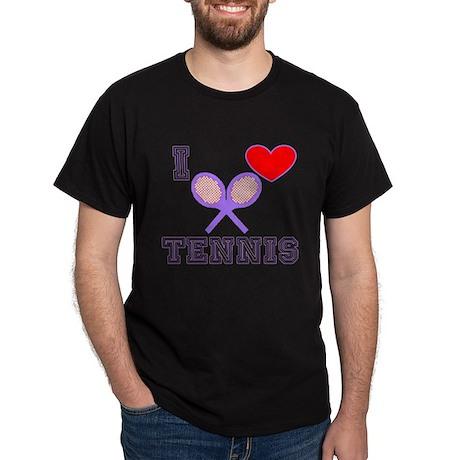 I Heart Tennis Light Blue Dark T-Shirt