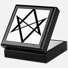 Black Unicursal Hexagram Keepsake Box