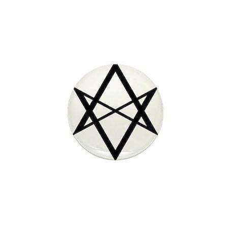 Black Unicursal Hexagram Mini Button (10 pack)