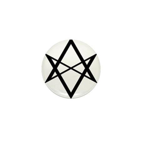 Black Unicursal Hexagram Mini Button (100 pack)