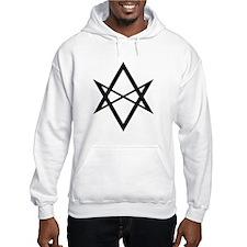 Black Unicursal Hexagram Hoodie