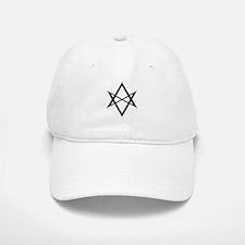 Black Unicursal Hexagram Baseball Baseball Cap