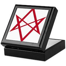 Red Unicursal Hexagram Keepsake Box
