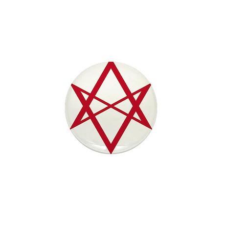 Red Unicursal Hexagram Mini Button (10 pack)