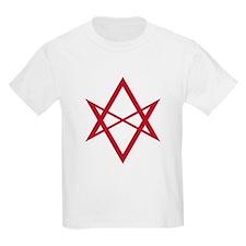 Red Unicursal Hexagram T-Shirt